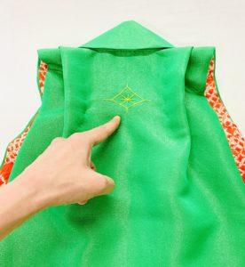 一つ身被布 背紋飾り