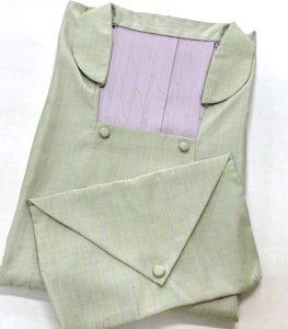 被布衿の雨コート 共袋つき