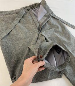作務衣のズボン裏付き
