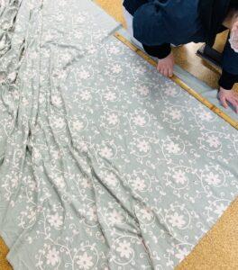 イギリス製の生地で単衣の着物