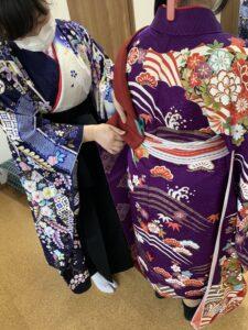 女袴の着付け