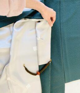 男向き袷羽織 内ポケット