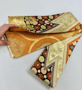 袋帯と袋帯で半巾帯