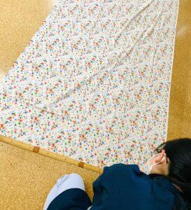 洋服地で木綿の半巾帯