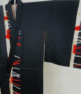 男向きの着物 袖の割り