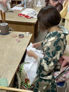 ワークショップ「衣紋と衿」
